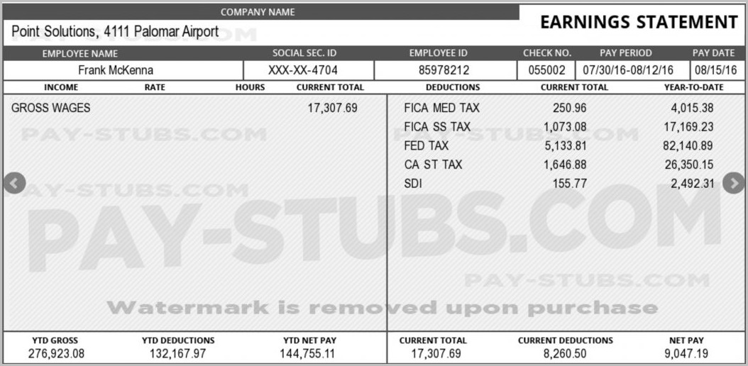 Adp Pay Stub Template Excel