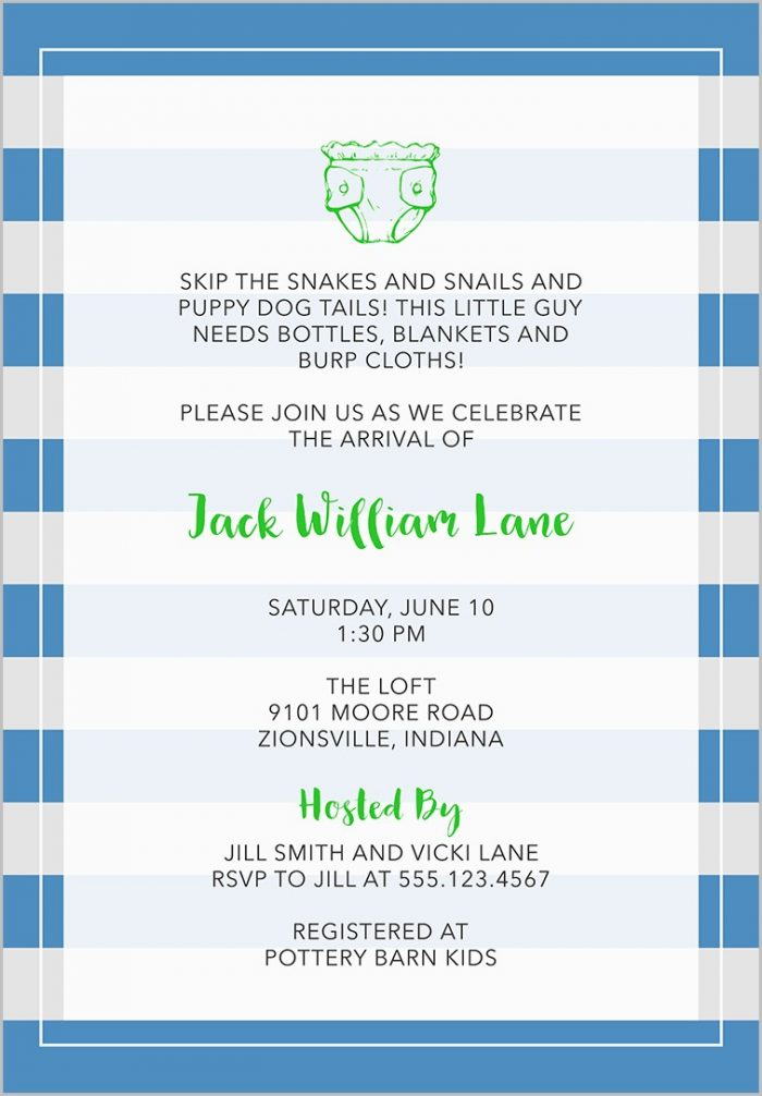 Baby Shower Invitation Samples Boy