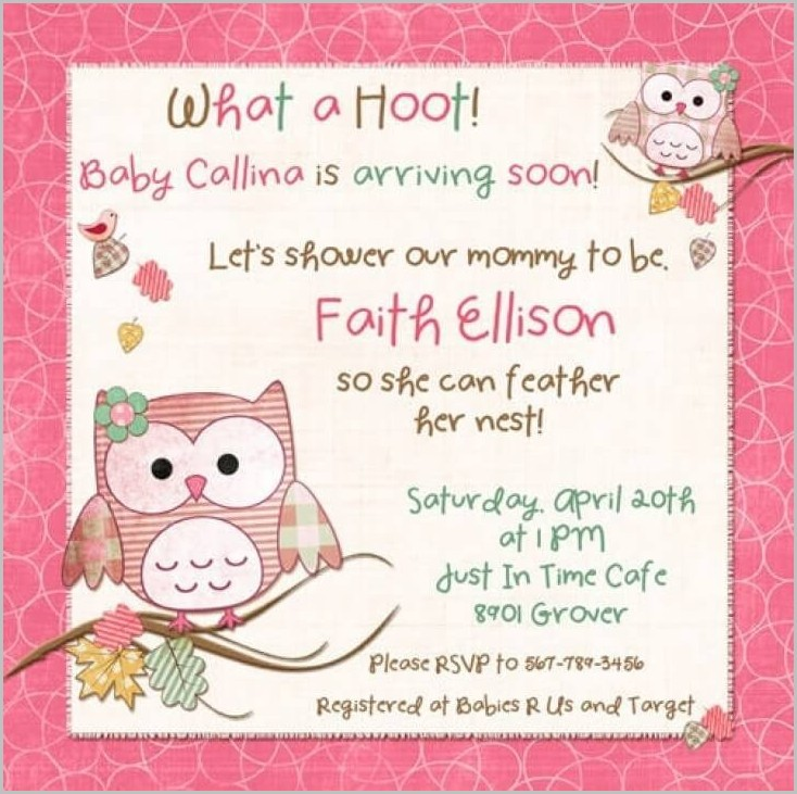 Baby Shower Invitation Template For Word
