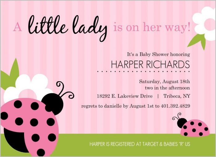 Baby Shower Invitation Template Girl