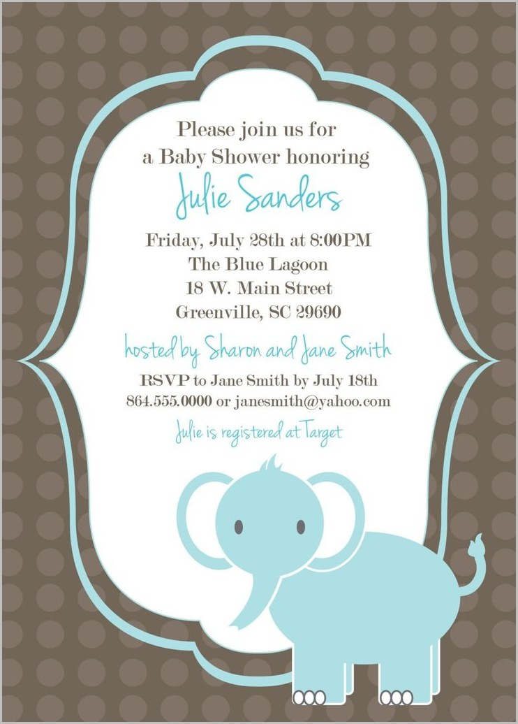 Baby Shower Invitation Template Word