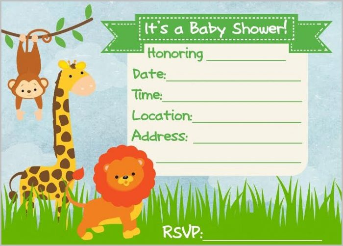 Baby Shower Invitation Templates Jungle