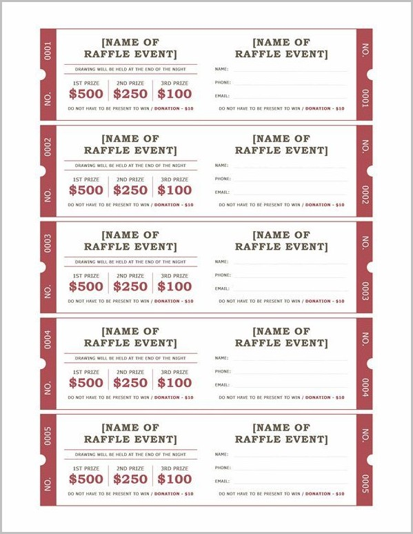 Basket Raffle Ticket Template