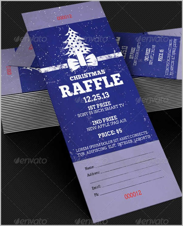 Christmas Raffle Ticket Template