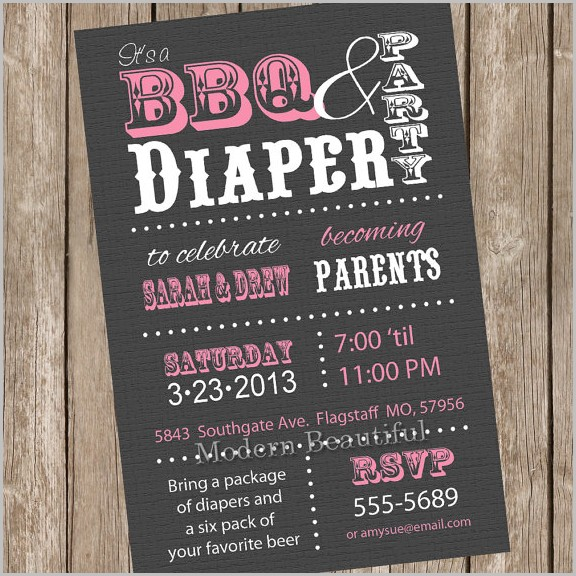 Coed Baby Shower Invitation Template