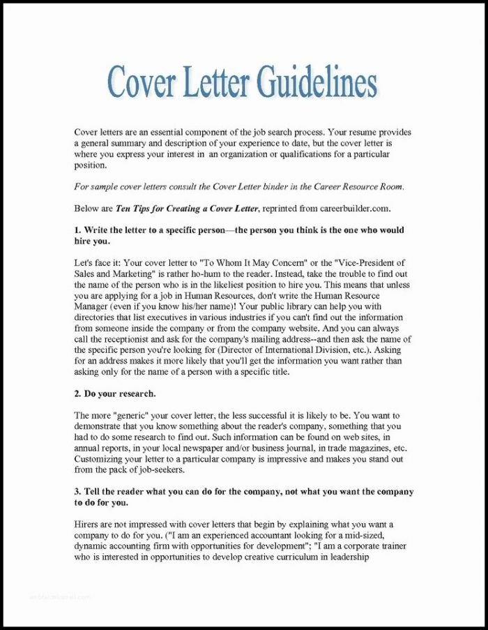 Cover Letter Generator For Resume