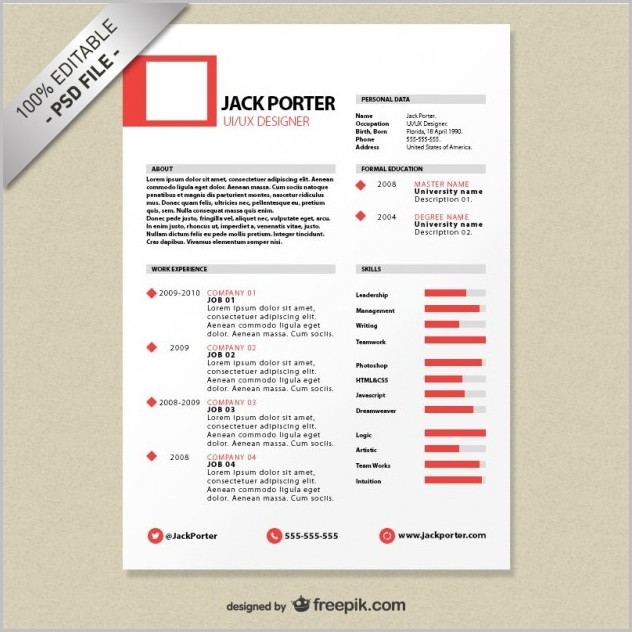 Creative Resume Templates For Graphic Designer Free Download