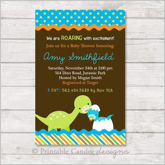 photograph relating to Free Printable Dinosaur Baby Shower Invitations named Dinosaur Little one Shower Invitation Template No cost Templates-1