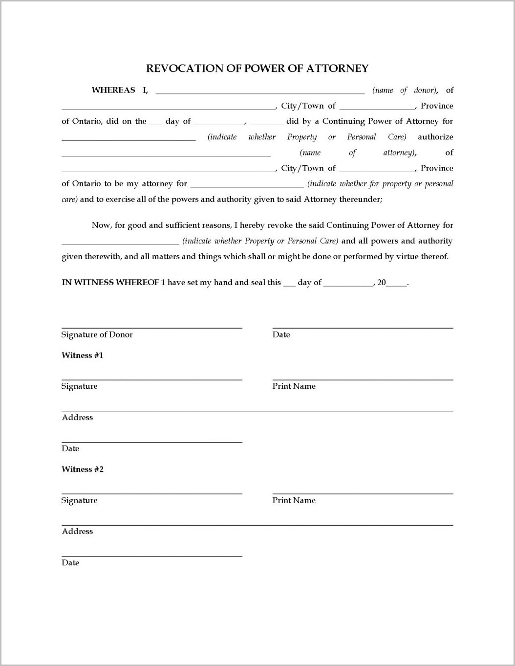 Durable Of Attorney Form Florida Bar