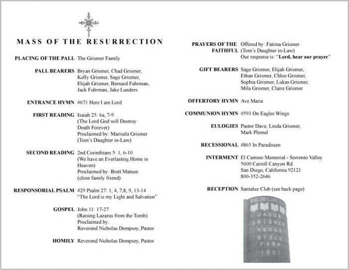 Episcopal Funeral Program Template