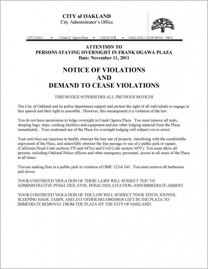 Eviction Notice Template Trinidad And Tobago