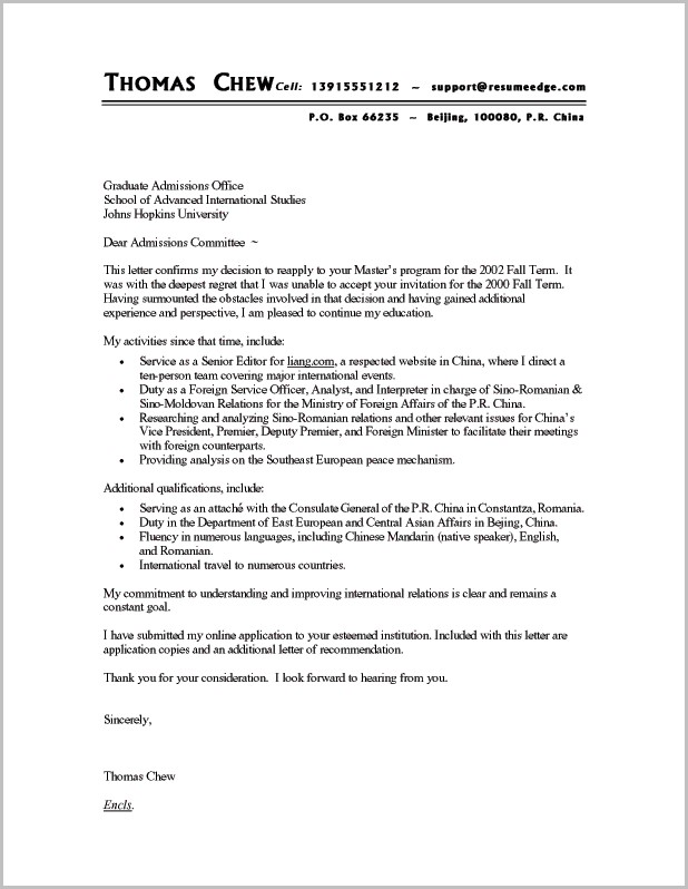 Examples Of Cover Letters For Resumes Free