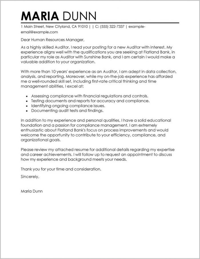 Examples Of Resume Cover Letters For Teachers