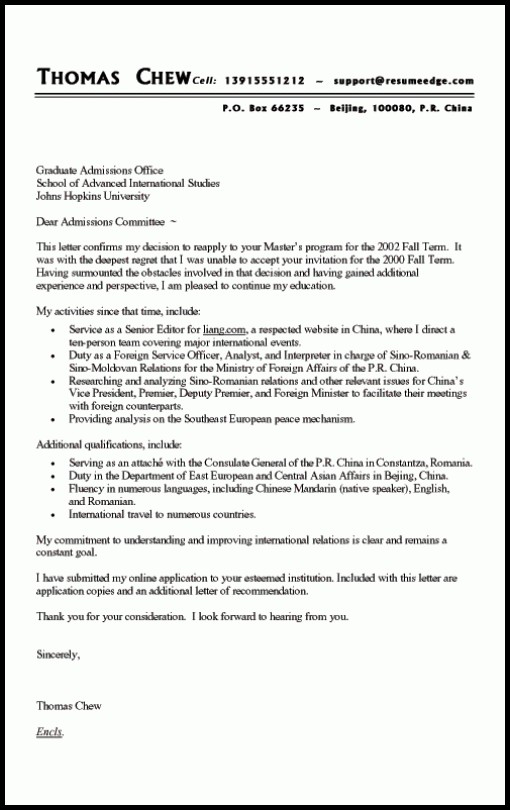 Examples Of Resumes And Cover Letters Free
