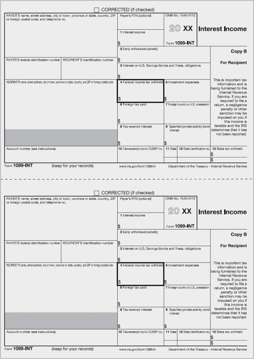 Form 1099 Misc 2016 Pdf Fillable Form : Resume Examples