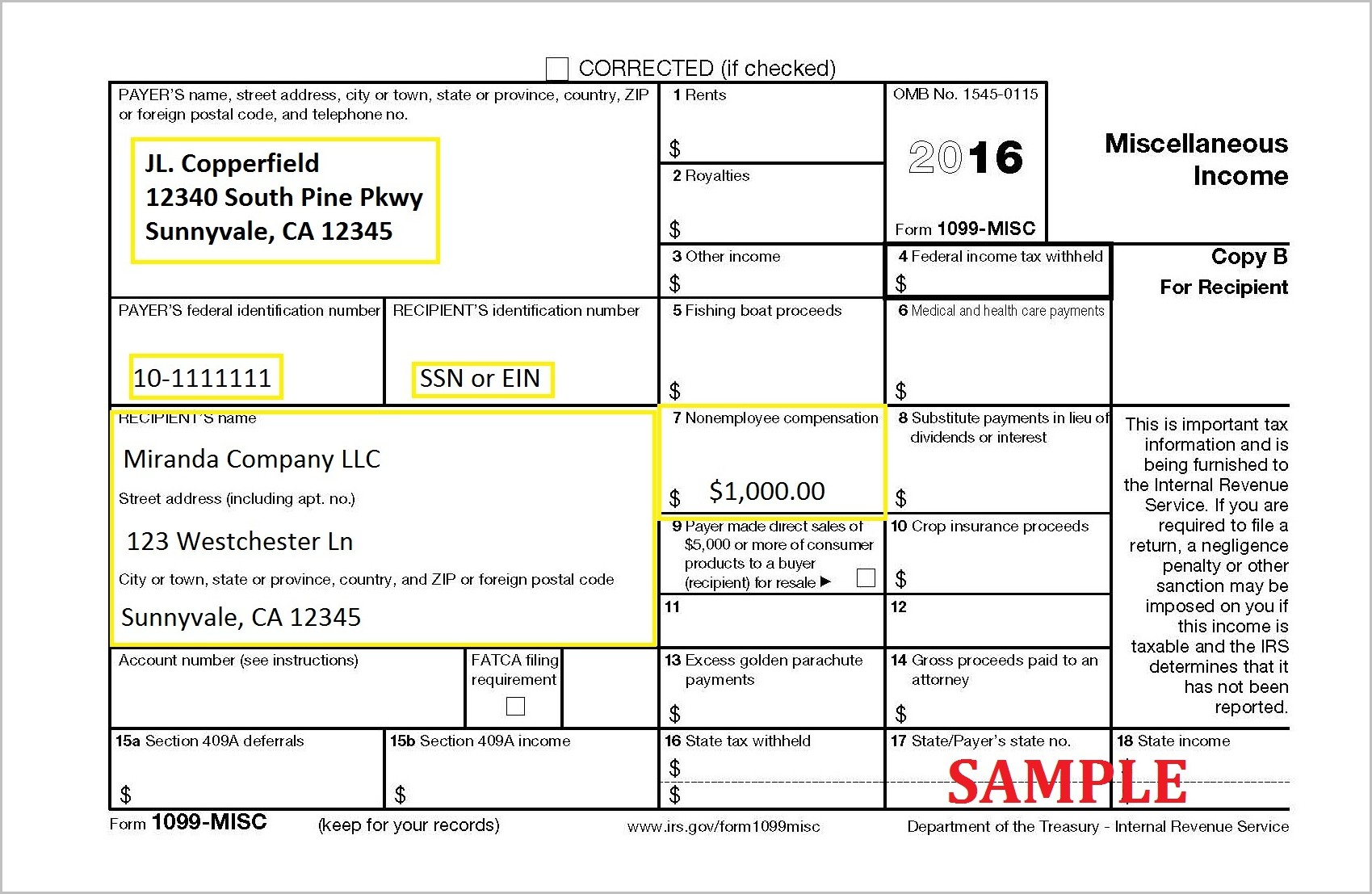Form 1099 Misc Form Resume Examples