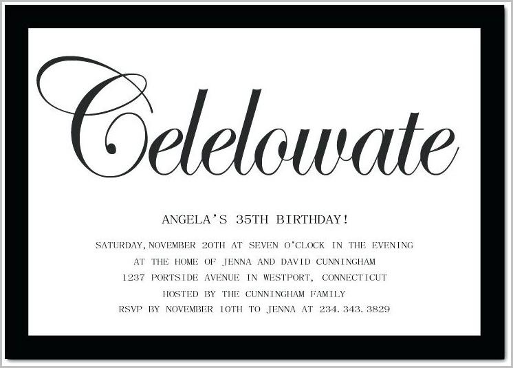 Free 35th Birthday Invitation Templates