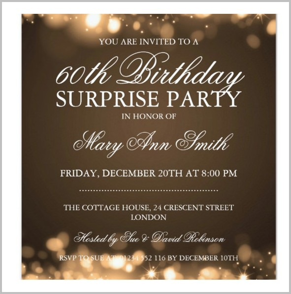 Free 65th Birthday Invitation Templates