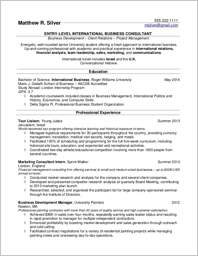 Free Basic Resume Templates For Word
