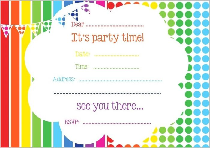 Free Birthday Invitation Templates Online
