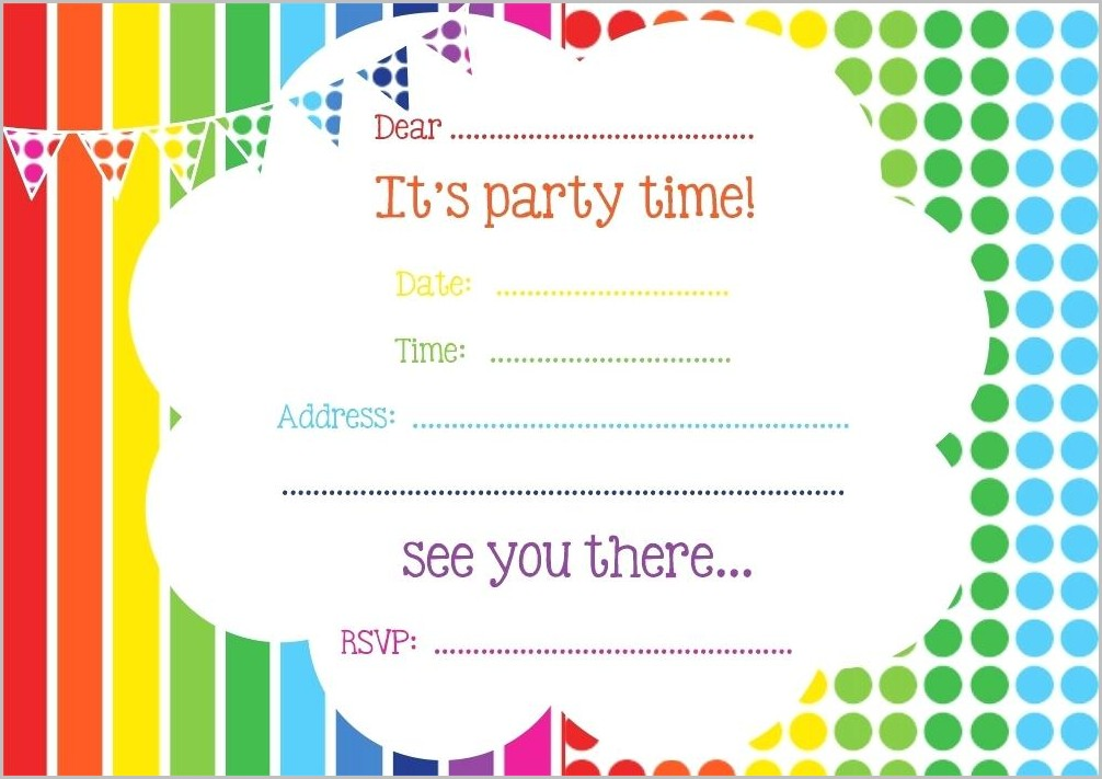 Free Birthday Invitation Templates Online
