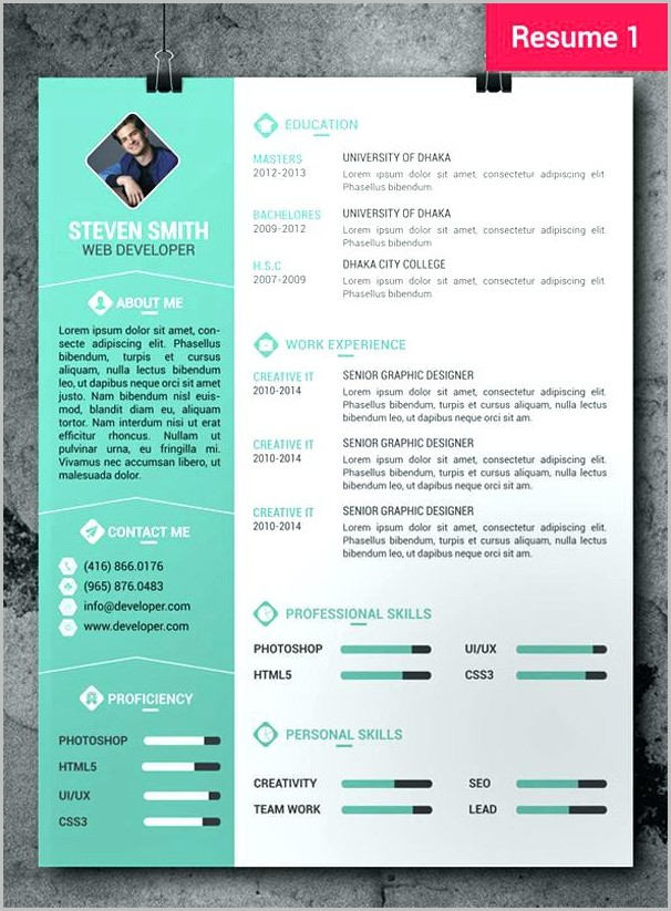 Free Creative Resume Templates In Word Format