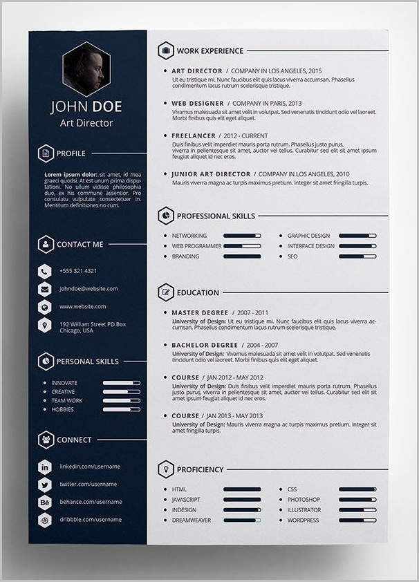Free Creative Resume Templates Word Format