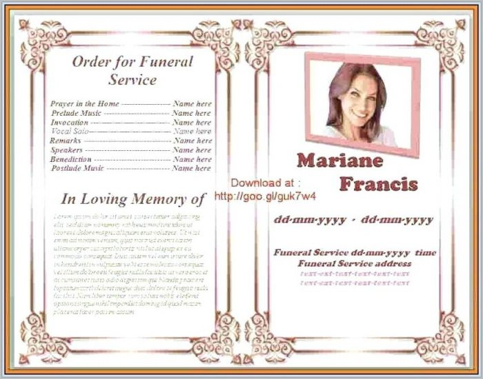free funeral program template for microsoft word templates 1