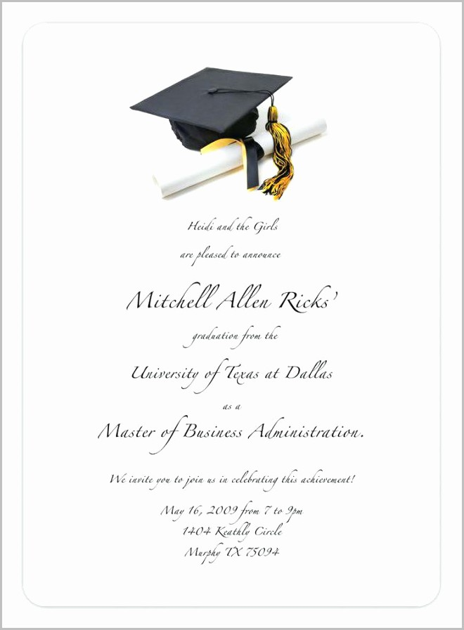 Free Graduation Invitation Templates 2018