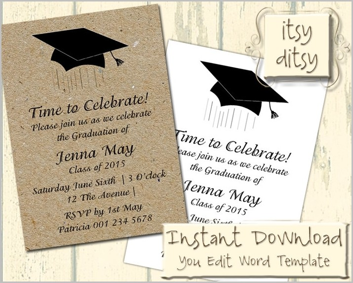 Free Graduation Invitation Templates 4×6