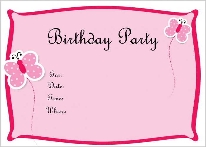 Free Invitation Templates For Birthday
