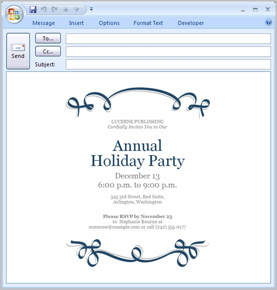 Free Invitation Templates For Email