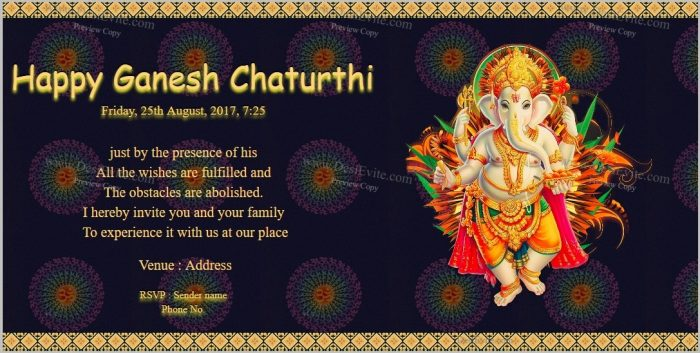 Free Invitation Templates For Ganesh Puja