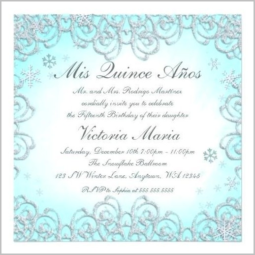 Free Invitation Templates For Quinceanera