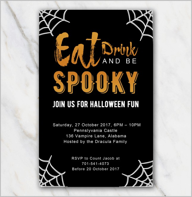 Free Invitation Templates Halloween