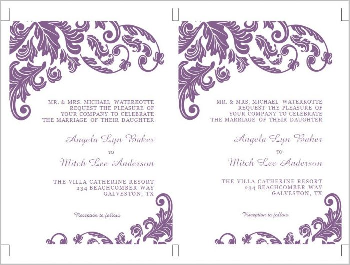 Free Invitation Templates Microsoft Word