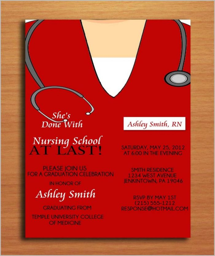 Free Nursing School Graduation Invitation Templates