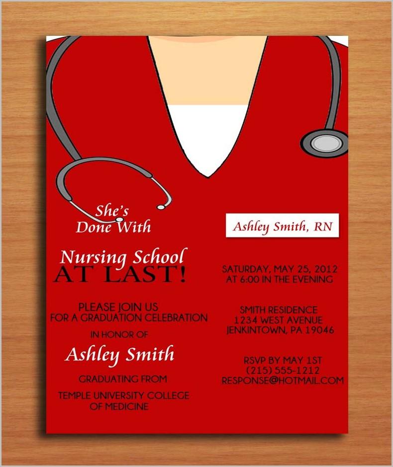 Free Nursing School Graduation Invitation Templates