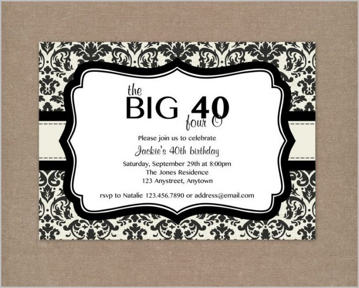 Free Online 40th Birthday Invitation Templates