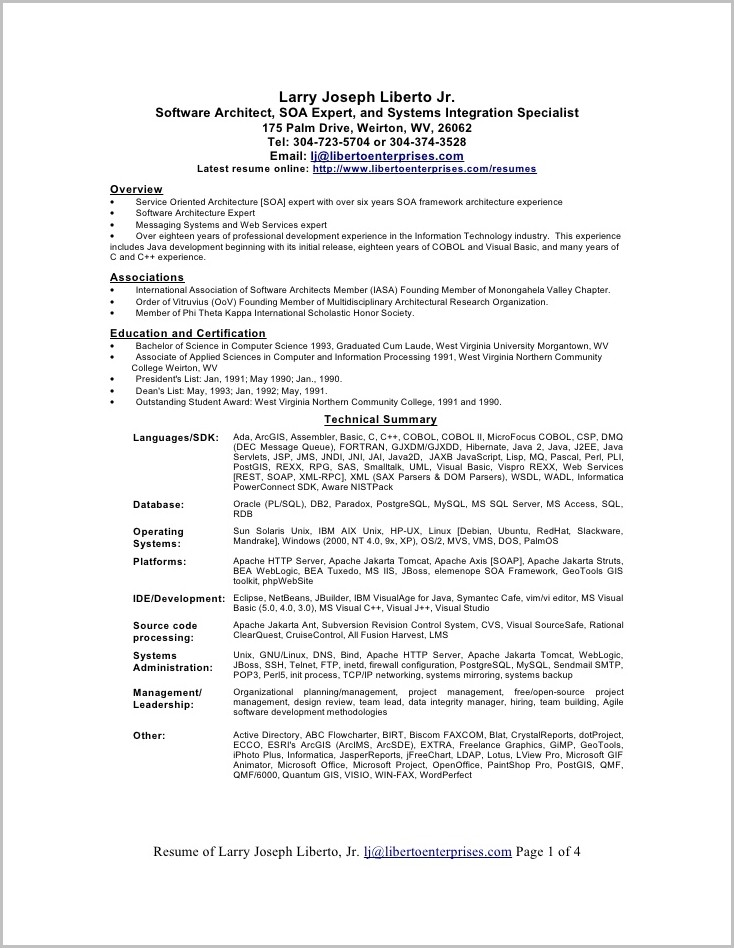 Free Resume Templates For Word 2007