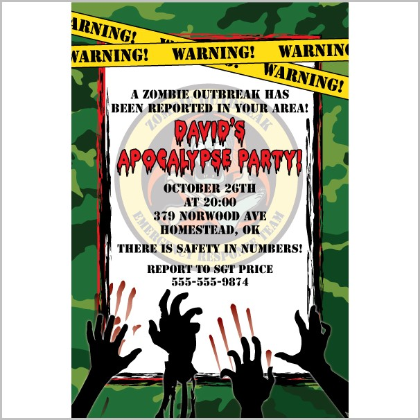 Free Zombie Invitation Templates
