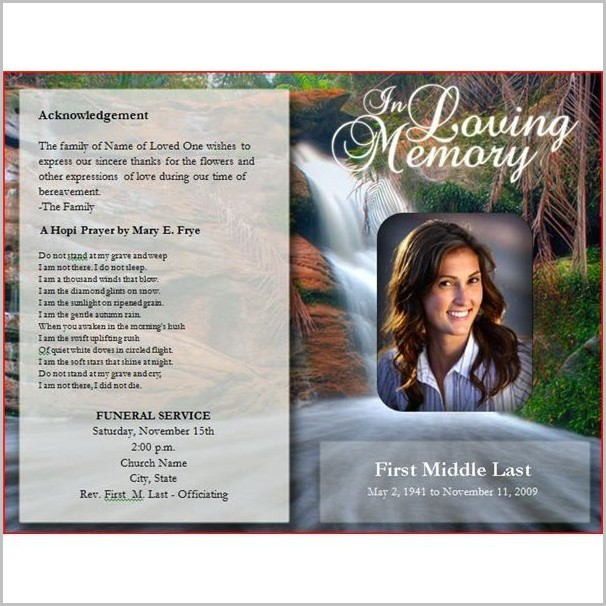 Funeral Program Cover Templates