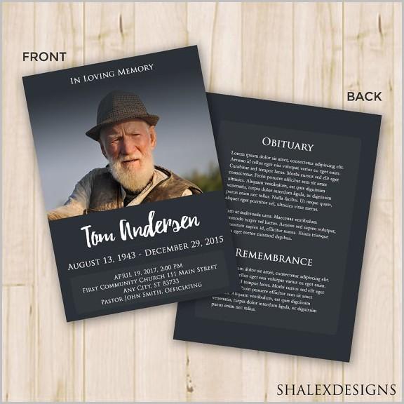 Funeral Program Samples Booklet