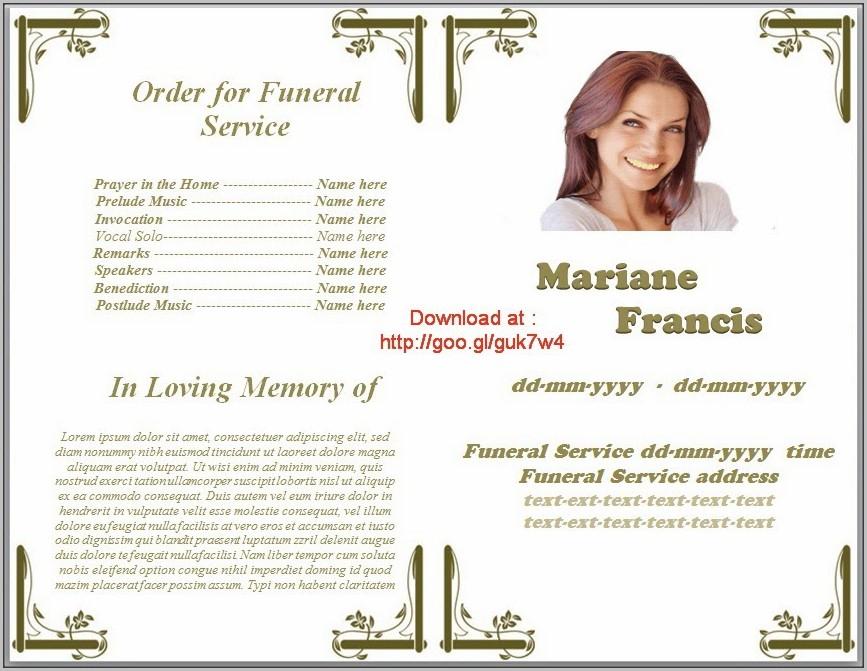 Funeral Program Template Download