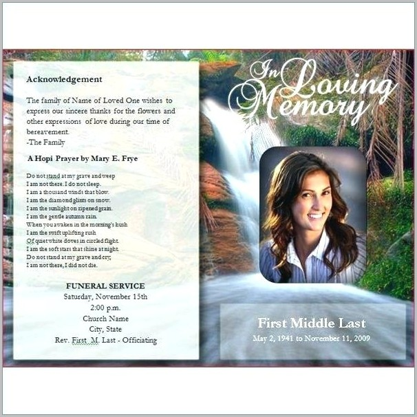 Funeral Program Template For Mac Free