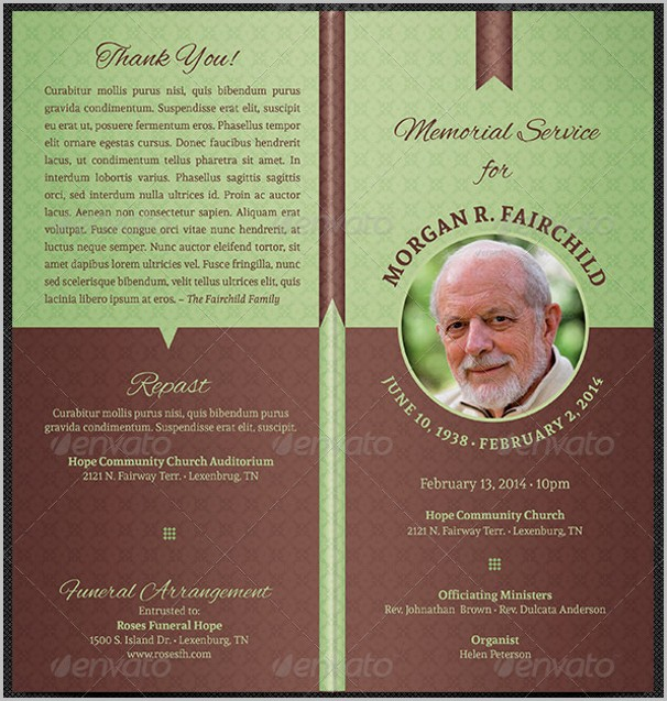 Funeral Program Template Free Download