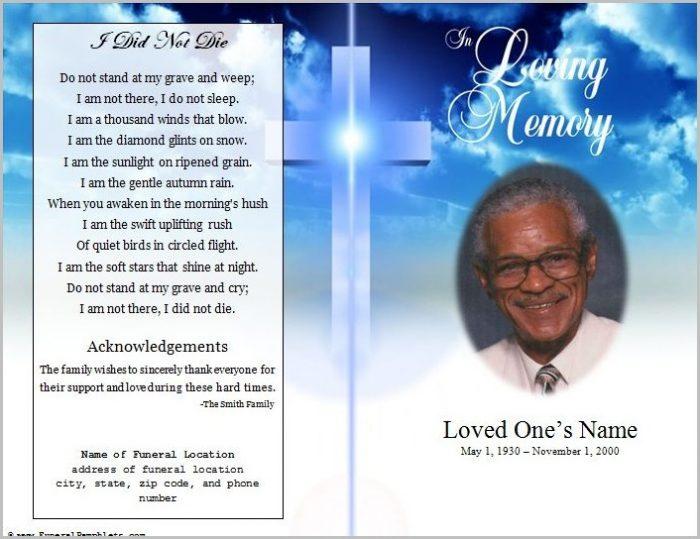 Funeral Program Template Free Word