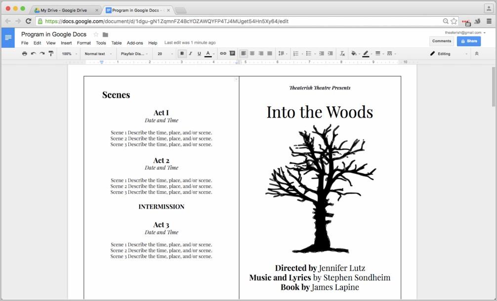 Funeral Program Template Google Docs