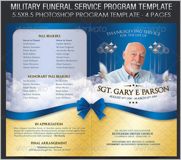 Funeral Program Template Photoshop