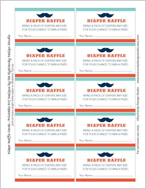 Gas Card Raffle Ticket Template